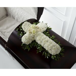 S5-4446 The FTD Peaceful Memories Casket Spray